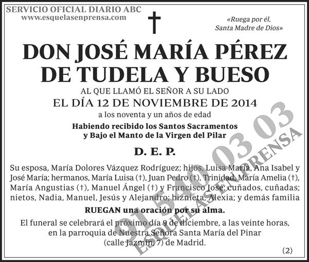 José María Pérez de Tudela y Bueso